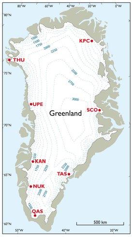 Gronlandsk Ismassetab For 2013 Polar Portal